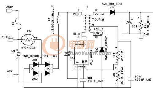 lnk616 12v输出电路图